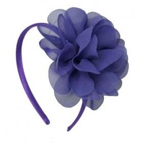 Chiffon Flower Headband - Purple