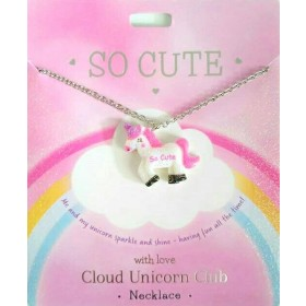 Personalised Cloud Unicorn Necklace