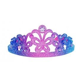 Pink Poppy Rainbow Tiara - Pink & Blue