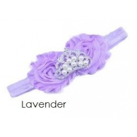 Crown Rosette Headband - Lavender