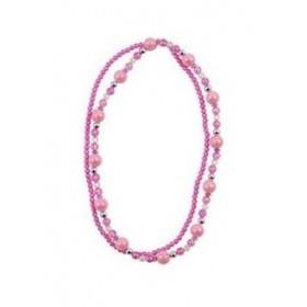 Pink Poppy Double Strand Necklace - Light Pink