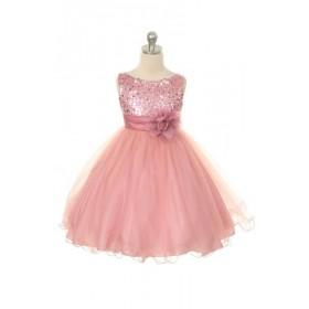 Carly Dress - Dusty Rose