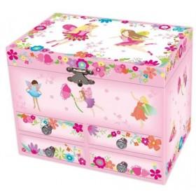 Pink Poppy Fairy Medium Music Jewellery Box