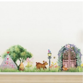 Fairy Village - Removable 1m Wall Decal