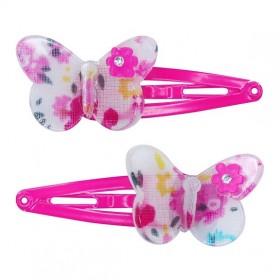 Pink Poppy Fiesta Butterfly Clip