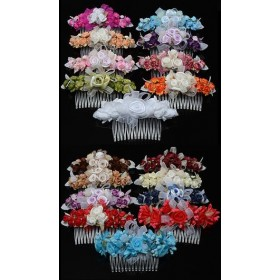 Floral Hair Combs (Many Colours)
