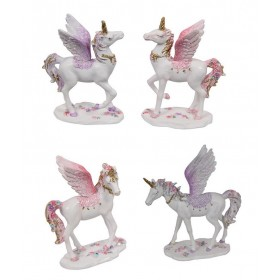 9cm Flying Floral Unicorn (4 asst.)