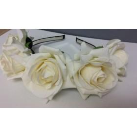 Flower Rose Headband - Ivory