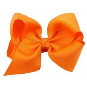 Hair Bow Clip - Orange