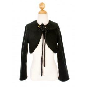 Fleece Bolero Jacket - Black