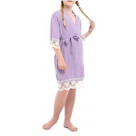 Lace Robe - Lilac
