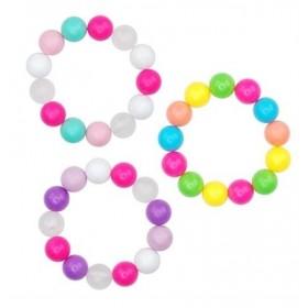 Pink Poppy Funky Large Bead Bracelet