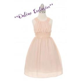 Lucy Dress - Blush Size 13/14 *FINAL STOCK