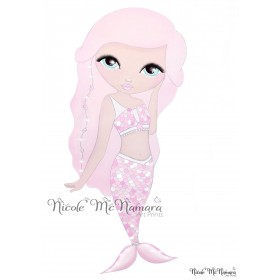 Mia Mermaid - Nicole McNamara Art Prints