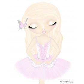 Milah Rose - Pink - Nicole McNamara Art Prints
