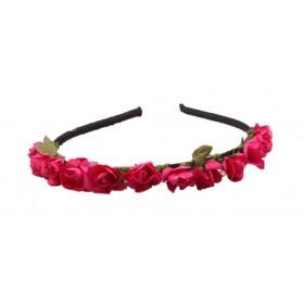 Mini Flower Headband - Hot Pink
