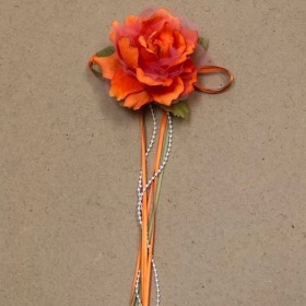 Flower with Ribbon - Orange