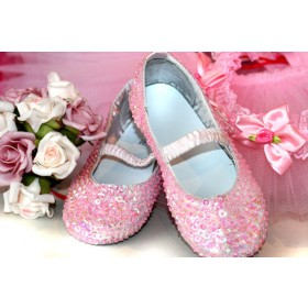 Sequinned Shoes - Pink