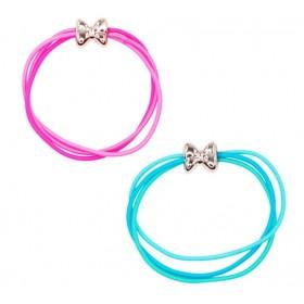 Pink Poppy Playful Bow Hair Elastics