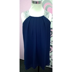 Polly Dress - Navy