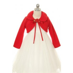 Fleece Bolero Jacket - Red
