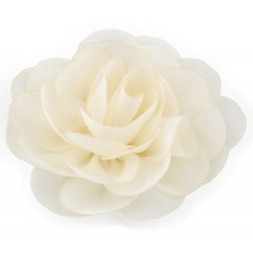 Chiffon Rose - Hair Clips - Ivory