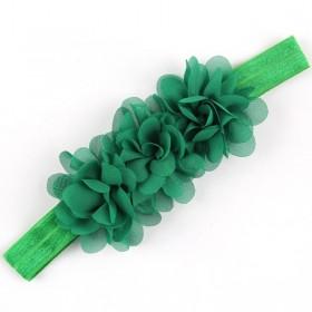 Ruffle Headband - Forrest Green