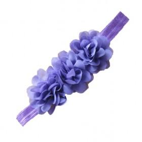 Ruffle Headband - Purple