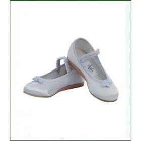 Rosette Satin Shoes - Ivory