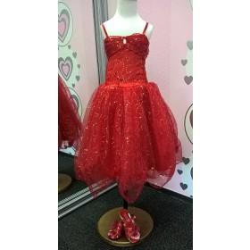Sparkle Princess Dress - Red