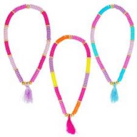 *Pink Poppy Tassel Fashion Necklace