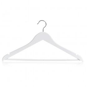 White Wooden Coat Hangers - Large