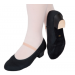 Canvas Character Shoes (Cuban Heel) - Black