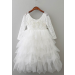 Everleigh Dress - White (with Applique)