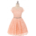 Isabella Dress - Peach