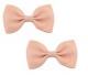 Bow Hair Clips - (2pc) - Blush