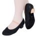 Canvas Character Shoes (Cuban Heel) - Black