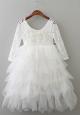 Everleigh Dress - White (with Applique)