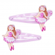 Pink Poppy Fairy Hair Clips - Light Pink