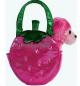 Fancy Pals Plush Strawberry Sorbet Pet Bag
