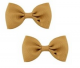Bow Hair Clips - (2pc) - Gold