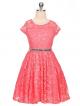 Isabella Dress - Coral