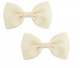 Bow Hair Clips - (2pc) - Ivory
