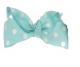 Mini Polkadot Bow Hair Clips - Light Blue