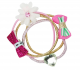 Pink Poppy Bows and Blooms Hair Elastics - Pink