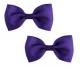 Bow Hair Clips - (2pc) - Purple