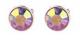 Pierced Earrings - Purple Diamante