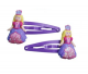 Pink Poppy Princess Hair Clips - Lilac