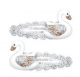 Pink Poppy Elegant Swan Hair Clips - Silver