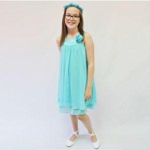Ashleigh Dress - Aqua - RRP: $79